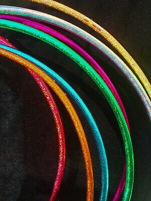 Fixed Polypro Hula Hoop With Sparkle Shine Tape - 24 -30  - Rainbow Dragon • 27.95£
