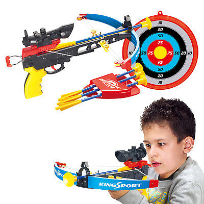 Kids Crossbow Set With Arrows Target Infrared Toy Gun Archery Boys Shooting Game • 11.99£