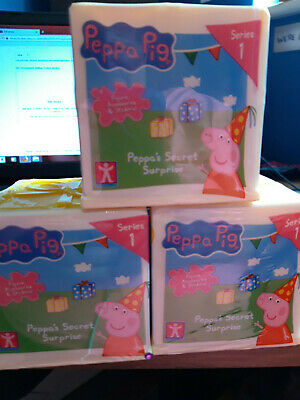 Peppa Pig Peppa's Secret Surprise Series 1 - Recieve 3 Boxes In This Sale  - New • 19.99£