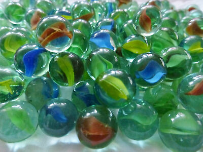 Coloured Glass Marbles Kids Traditional Toys Classic Retro Gift Game Party 100pc • 4.99£