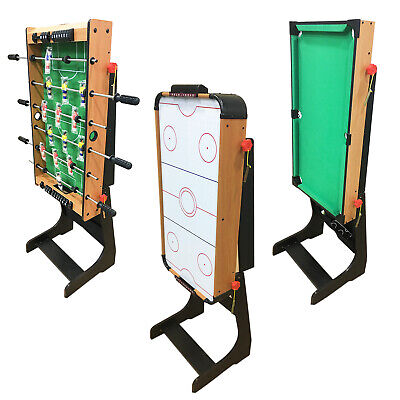 Folding Football Table Pool Air Hockey Gaming Game Sports Foosball Indoor Soccer • 29.99£