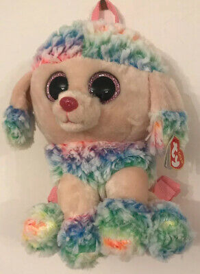 "TY Gear Collection ~ Rainbow The Dog ~ Small Backpack ~ 11"" • 14.99£"