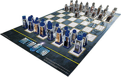 Dr Who Animated Lenticular Chess Set - Riversong Amy Rory Dalek Cybermen Tardis • 44.33£