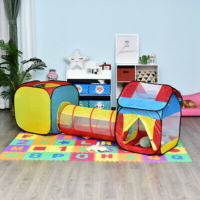 3 In 1 Foldable Kids Pop Up Play House Tent Tunnel Set Easy Setup Child Gift • 21.99£