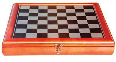 NEW Traditional Wood Timber Framed Chess Board & Combined Storage Box 40cm • 66.50£