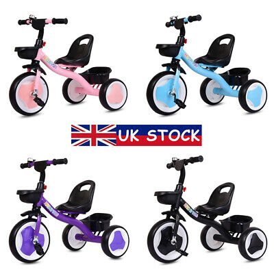 Kids Trikes My First 3 Wheels Pedal Bike Baby Tricycle Toddlers Boys Girls Gifts • 27.99£