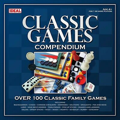 Classic Games Compendium By IDEAL - Over 100 Family Games • 24.99£