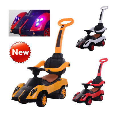 3 In 1 Kids Ride On Car With Music/Lights/Barrier Baby Toddler Push Along Walker • 29.99£