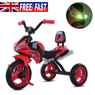 NEW Baby Kids Trike Tricycle Children Motorcycle Bike With Lights & Music - Red • 32.90£