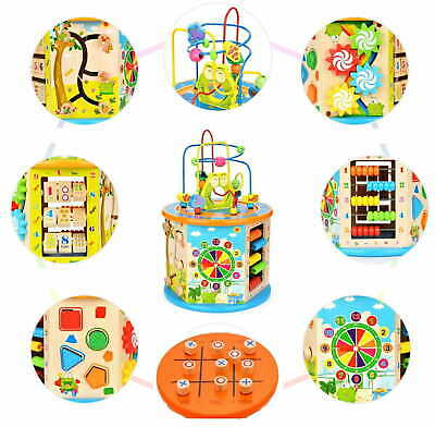 8 In 1 Kids Fun Activity Cube Multiple Games In 1 Toy Activity For Home, Nursery • 25.90£
