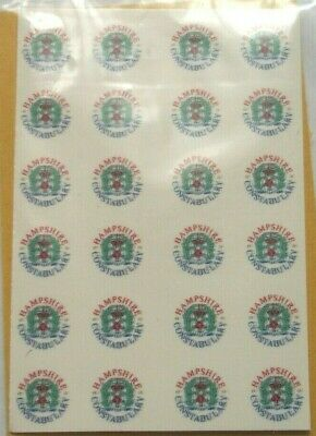 Police Hampshire Constabulary Code 3 Waterslide Decals X 20 • 2£