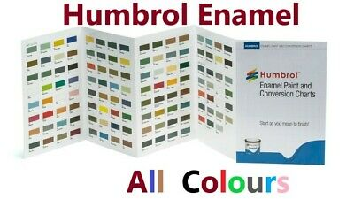 HUMBROL 14ml ENAMEL TINLETS CHOOSE MATT, GLOSS, SATIN, METALLIC & METALCOTE • 2.35£
