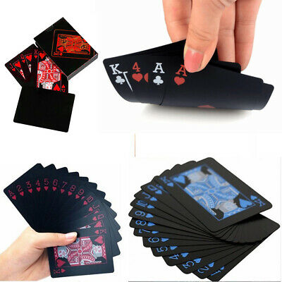 Waterproof Deck Of Plastic Playing Cards Collection Black Diamond Poker Games UK • 4.74£