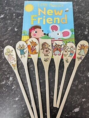 Wooden Story Spoons For The Book Little Mouses New Friend • 20£