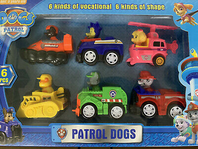 6 PCS Racer Car Paw Patrol Dog Marshall Rubble Rocky Chase Skye Kids Toys Gifts • 9.66£