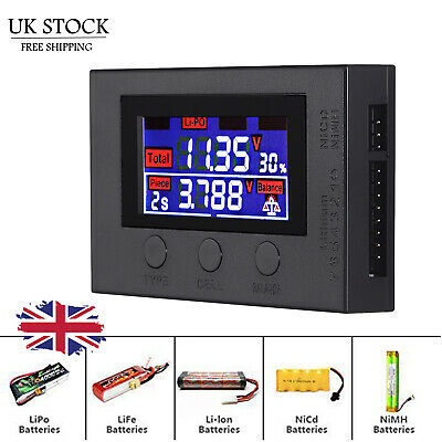 LCD Digital Battery Capacity Tester Checker Controller For Lipo LiFe Li-ion NiMH • 10.95£