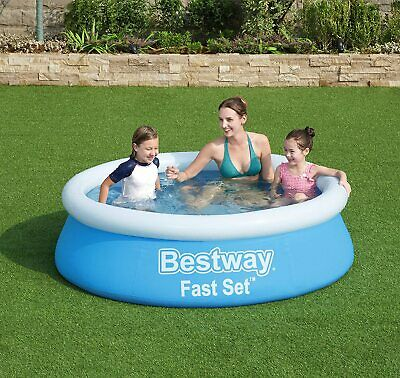 Inflatable Large Family Size Round Water Swimming Outdoor Garden Paddling Pool • 24.99£