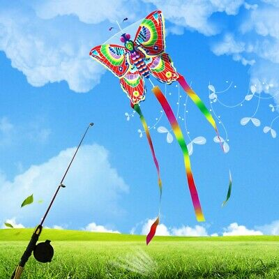 Outdoor Kites Without Line Butterfly Flying Kite Toys Fun Sports Children Kids • 3.07£