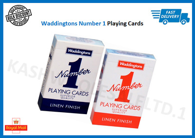Waddingtons No.1 Classic Playing Cards Decks Of Red & Blue Poker Game Brand New • 1.65£
