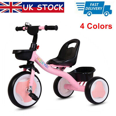 New Baby Kids Trike 3 Wheels Pedal Bike Tricycle Boys Girls First Bike -4 Colors • 27.99£