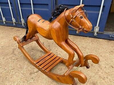 Vintage Wooden Rocking Horse By Ian Armstrong • 295£