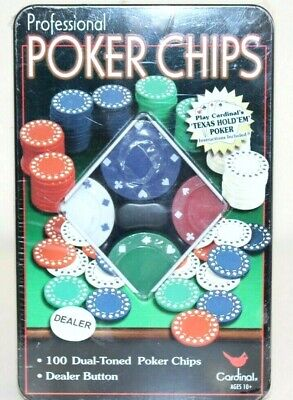 Poker Chips -Cardinal Professional Poker Chips New In Box • 13.69£