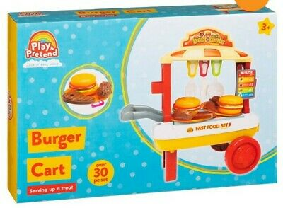 Play And Pretend Burger Cart - Amazing 30pc Set. Message For Offer • 35£