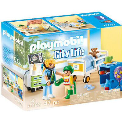 Playmobil 70192 City Life Children's Hospital Room Playset • 15.99£