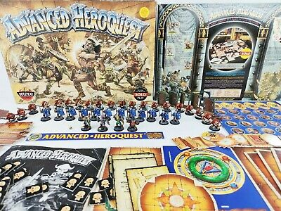 Advanced Heroquest Warhammer Board Game - Pro Painted 100% Complete [1989] • 389.95£
