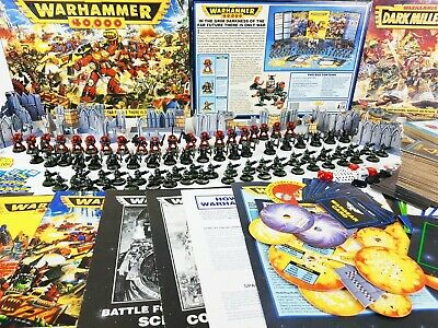 Warhammer 40k 2nd Edition Starter Set + DARK MILLENNIUM PRO PAINTED [1993] • 389.95£