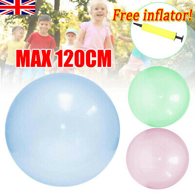 120CM Soft Bubble Ball Wubble Squishy Play Firm Super Stretch Transparent Sports • 7.99£