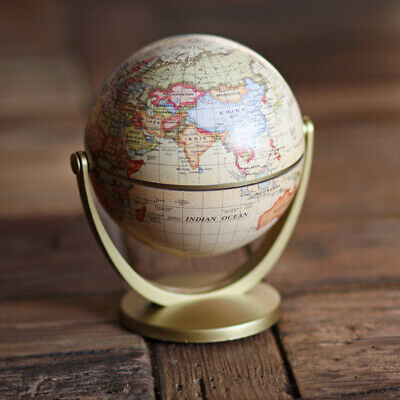 Home Rotating World Globe Geography Educational Tool Bedroom Decoration A7J8 • 7.59£