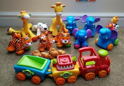Fisher Price Amazing Animals Bundle And Trains With Sounds • 19.99£