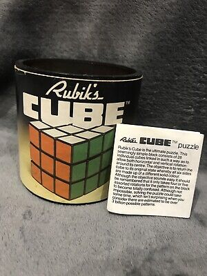 Vintage Ideal Classic Rubik's Cube 1981 Puzzle Original Box ONLY • 10£