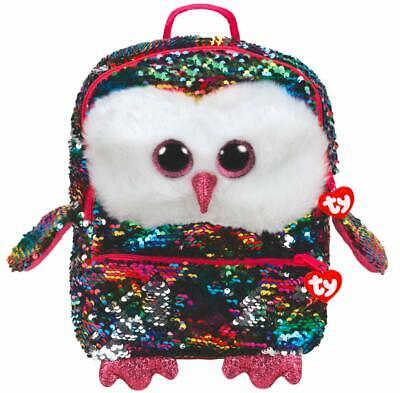 TY Owen The Owl Plush Sequin Backpack 35 Cm • 23.94£