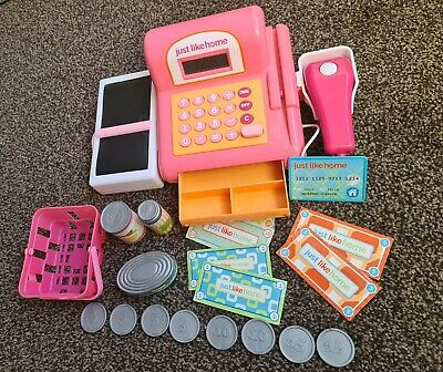 Toy Till For Kids With Cashier, Scanner, Toy Groceries And Play Money • 6.99£
