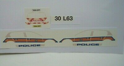 No 198 Vauxhall Astra H Police Livery For Code 3 Clear Waterslide Decals  • 3£