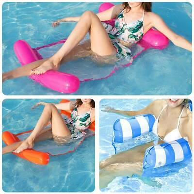 Inflatable Floating Water Hammock Float Pool Lounge Bed Swimming Chair W/  T • 7.79£