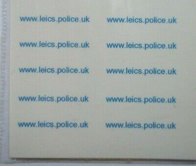 Police Www.leics.Police.uk Boot Code 3 Clear Waterslide Decals • 2.80£