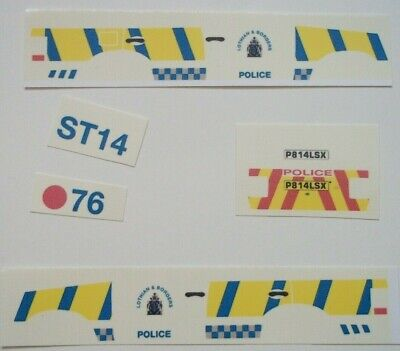 No 190 Mk 1 Land Rover Police Livery For Code 3 Clear Waterslide Decal • 3.50£