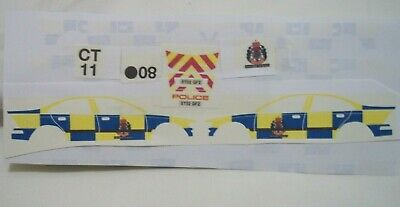 No 203 Volvo S40  Police Car Livery For Code 3 Waterslide Decals 2002 • 3.50£