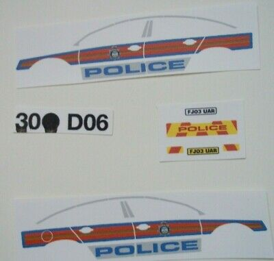 No 199 Vauxhall Vectra C Police Livery For Code 3 Clear Waterslide Decals  • 3.50£