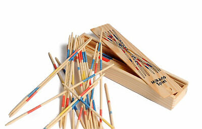 Mikado Wooden Pick Up Sticks Kids Traditional Retro Game Party Favour Favor Gift • 2.50£