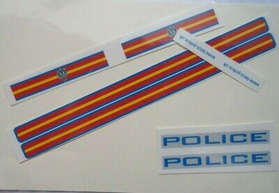 No  Police Leicestershire Livery For Code 3 Clear Waterslide Decals  • 3.50£