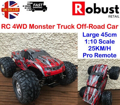 RR High Speed 4WD Remote Control RC Monster Truck Off Road 25KM/H Large Fast Car • 58.99£