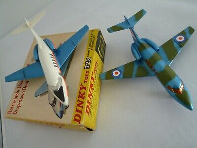 Vintage Dinky Toys 723 Hawker Siddeley Hs 125 Pair / Executive Jet Boxed 1970-73 • 7.50£