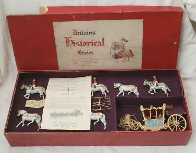 Antique Britains Royal State Coach 1470 In Original Box With Horses + • 22£
