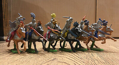 BRITAINS DEETAIL MOUNTED SILVER KNIGHTS 1ST SERIES  SET... Dusty:) • 39£