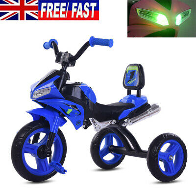 Baby Boys Kids Trike Motorcycle Lights Music Tricycle 3 Wheels Bike For Toddlers • 32.90£