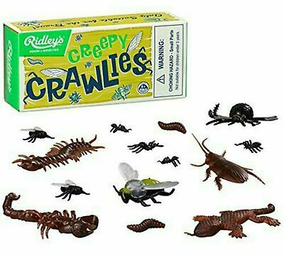RIDLEYS Creepy Crawlies Kids Toy Bugs Gift Novelty Plastic Insects Retro Boxed • 4.29£